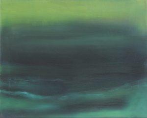 Grünes Meer Öl auf Leinwand, 60x50cm, 2018