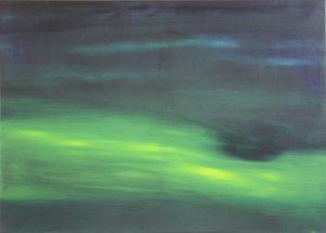 Grünes Leuchten Öl auf Leinwand, 80x60cm, 2018