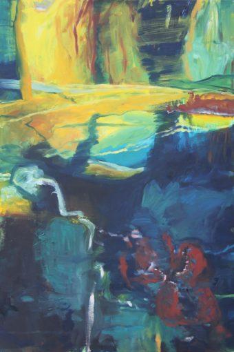 """Quelle"", Öl auf Leinwand, 2013, 70x100cm"